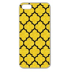 Tile1 Black Marble & Yellow Colored Pencil Apple Seamless Iphone 5 Case (clear)