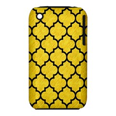 Tile1 Black Marble & Yellow Colored Pencil Iphone 3s/3gs