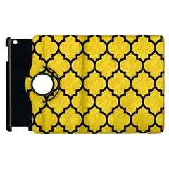 Tile1 Black Marble & Yellow Colored Pencil Apple Ipad 3/4 Flip 360 Case