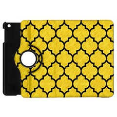 Tile1 Black Marble & Yellow Colored Pencil Apple Ipad Mini Flip 360 Case