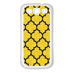 Tile1 Black Marble & Yellow Colored Pencil Samsung Galaxy S3 Back Case (white)