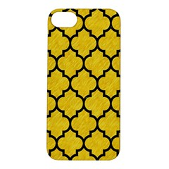 Tile1 Black Marble & Yellow Colored Pencil Apple Iphone 5s/ Se Hardshell Case