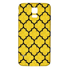Tile1 Black Marble & Yellow Colored Pencil Samsung Galaxy S5 Back Case (white)