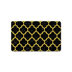 Tile1 Black Marble & Yellow Colored Pencil (r) Magnet (name Card)