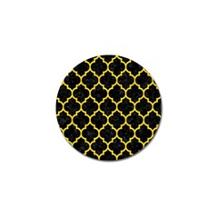 Tile1 Black Marble & Yellow Colored Pencil (r) Golf Ball Marker