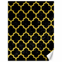 Tile1 Black Marble & Yellow Colored Pencil (r) Canvas 12  X 16