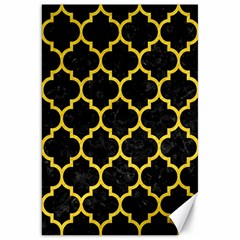 Tile1 Black Marble & Yellow Colored Pencil (r) Canvas 20  X 30