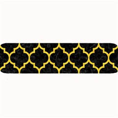 Tile1 Black Marble & Yellow Colored Pencil (r) Large Bar Mats