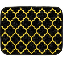 Tile1 Black Marble & Yellow Colored Pencil (r) Fleece Blanket (mini)
