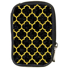 Tile1 Black Marble & Yellow Colored Pencil (r) Compact Camera Cases