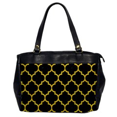 Tile1 Black Marble & Yellow Colored Pencil (r) Office Handbags