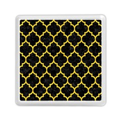 Tile1 Black Marble & Yellow Colored Pencil (r) Memory Card Reader (square)