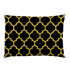 Tile1 Black Marble & Yellow Colored Pencil (r) Pillow Case (two Sides)