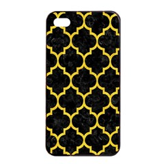 Tile1 Black Marble & Yellow Colored Pencil (r) Apple Iphone 4/4s Seamless Case (black)