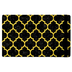 Tile1 Black Marble & Yellow Colored Pencil (r) Apple Ipad 3/4 Flip Case