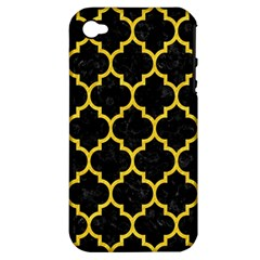 Tile1 Black Marble & Yellow Colored Pencil (r) Apple Iphone 4/4s Hardshell Case (pc+silicone)