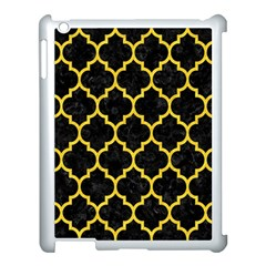 Tile1 Black Marble & Yellow Colored Pencil (r) Apple Ipad 3/4 Case (white)