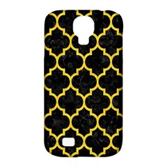 Tile1 Black Marble & Yellow Colored Pencil (r) Samsung Galaxy S4 Classic Hardshell Case (pc+silicone)