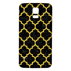Tile1 Black Marble & Yellow Colored Pencil (r) Samsung Galaxy S5 Back Case (white)