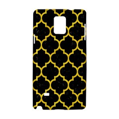 Tile1 Black Marble & Yellow Colored Pencil (r) Samsung Galaxy Note 4 Hardshell Case