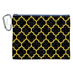 Tile1 Black Marble & Yellow Colored Pencil (r) Canvas Cosmetic Bag (xxl)