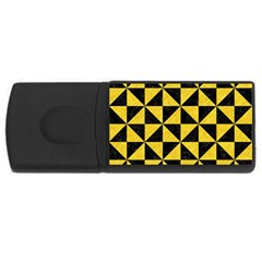 Triangle1 Black Marble & Yellow Colored Pencil Rectangular Usb Flash Drive