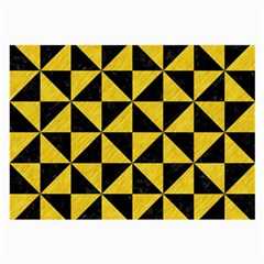 Triangle1 Black Marble & Yellow Colored Pencil Large Glasses Cloth