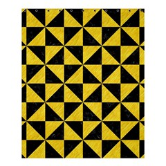 Triangle1 Black Marble & Yellow Colored Pencil Shower Curtain 60  X 72  (medium)