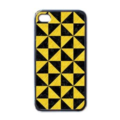 Triangle1 Black Marble & Yellow Colored Pencil Apple Iphone 4 Case (black)