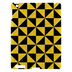 Triangle1 Black Marble & Yellow Colored Pencil Apple Ipad 3/4 Hardshell Case