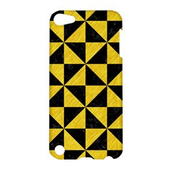 Triangle1 Black Marble & Yellow Colored Pencil Apple Ipod Touch 5 Hardshell Case