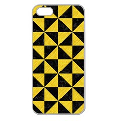 Triangle1 Black Marble & Yellow Colored Pencil Apple Seamless Iphone 5 Case (clear)