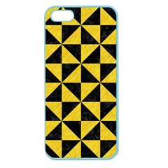Triangle1 Black Marble & Yellow Colored Pencil Apple Seamless Iphone 5 Case (color)