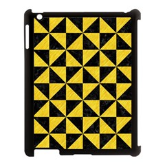 Triangle1 Black Marble & Yellow Colored Pencil Apple Ipad 3/4 Case (black)