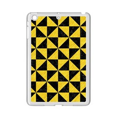 Triangle1 Black Marble & Yellow Colored Pencil Ipad Mini 2 Enamel Coated Cases