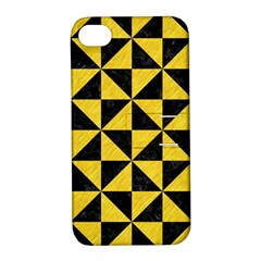 Triangle1 Black Marble & Yellow Colored Pencil Apple Iphone 4/4s Hardshell Case With Stand
