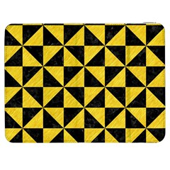 Triangle1 Black Marble & Yellow Colored Pencil Samsung Galaxy Tab 7  P1000 Flip Case
