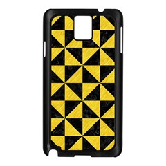 Triangle1 Black Marble & Yellow Colored Pencil Samsung Galaxy Note 3 N9005 Case (black)