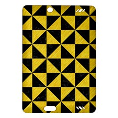Triangle1 Black Marble & Yellow Colored Pencil Amazon Kindle Fire Hd (2013) Hardshell Case