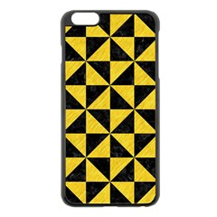 Triangle1 Black Marble & Yellow Colored Pencil Apple Iphone 6 Plus/6s Plus Black Enamel Case