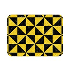 Triangle1 Black Marble & Yellow Colored Pencil Double Sided Flano Blanket (mini)