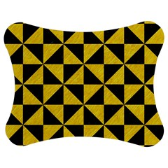 Triangle1 Black Marble & Yellow Colored Pencil Jigsaw Puzzle Photo Stand (bow)