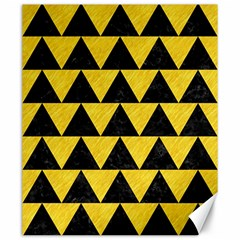 Triangle2 Black Marble & Yellow Colored Pencil Canvas 20  X 24