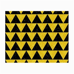 Triangle2 Black Marble & Yellow Colored Pencil Small Glasses Cloth (2 Side)