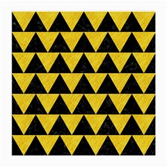 Triangle2 Black Marble & Yellow Colored Pencil Medium Glasses Cloth (2 Side)