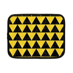 Triangle2 Black Marble & Yellow Colored Pencil Netbook Case (small)
