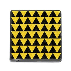 Triangle2 Black Marble & Yellow Colored Pencil Memory Card Reader (square)
