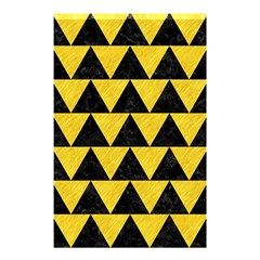 Triangle2 Black Marble & Yellow Colored Pencil Shower Curtain 48  X 72  (small)