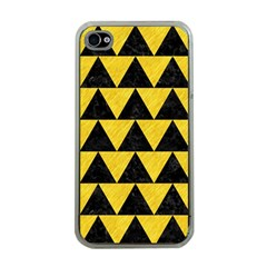 Triangle2 Black Marble & Yellow Colored Pencil Apple Iphone 4 Case (clear)