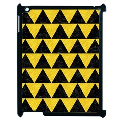 Triangle2 Black Marble & Yellow Colored Pencil Apple Ipad 2 Case (black)